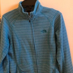 Striped North Face velour jacket